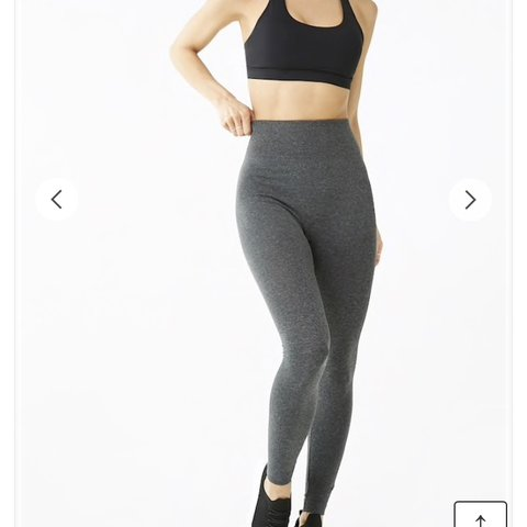 94228ab7cd58ee Forever 21 Active Marled Fit Leggings in Size Small Perfect - Depop