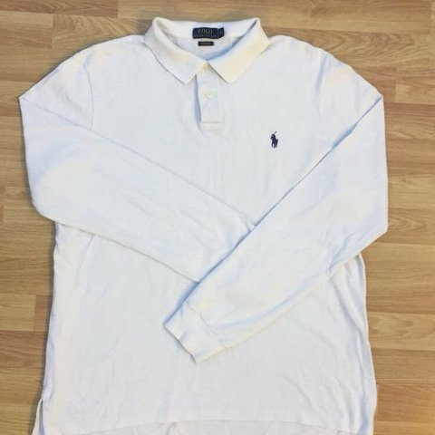 e61c99f6 @roshan_01. 11 months ago. Baldock, United Kingdom. Long sleeve Ralph  Lauren polo shirt in white