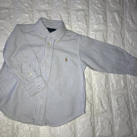 7c04c436c @georgia2202. 4 months ago. Great Yarmouth, United Kingdom. Genuine blue  Ralph Lauren baby pin stripe shirt