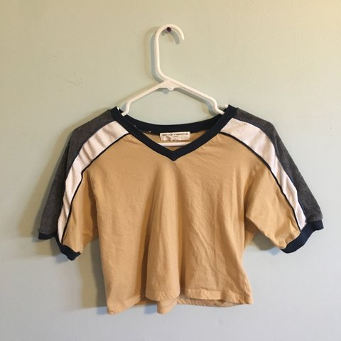 f94c6f850b @aubj0. 3 months ago. Albuquerque, United States. price drop! urban  outfitters yellow cropped shirt with stripes. only worn once, it's super  cute ...