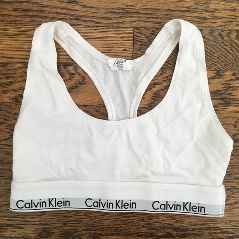 b0b53585aa Calvin Klein Bra size small. It has never been worn and is - Depop