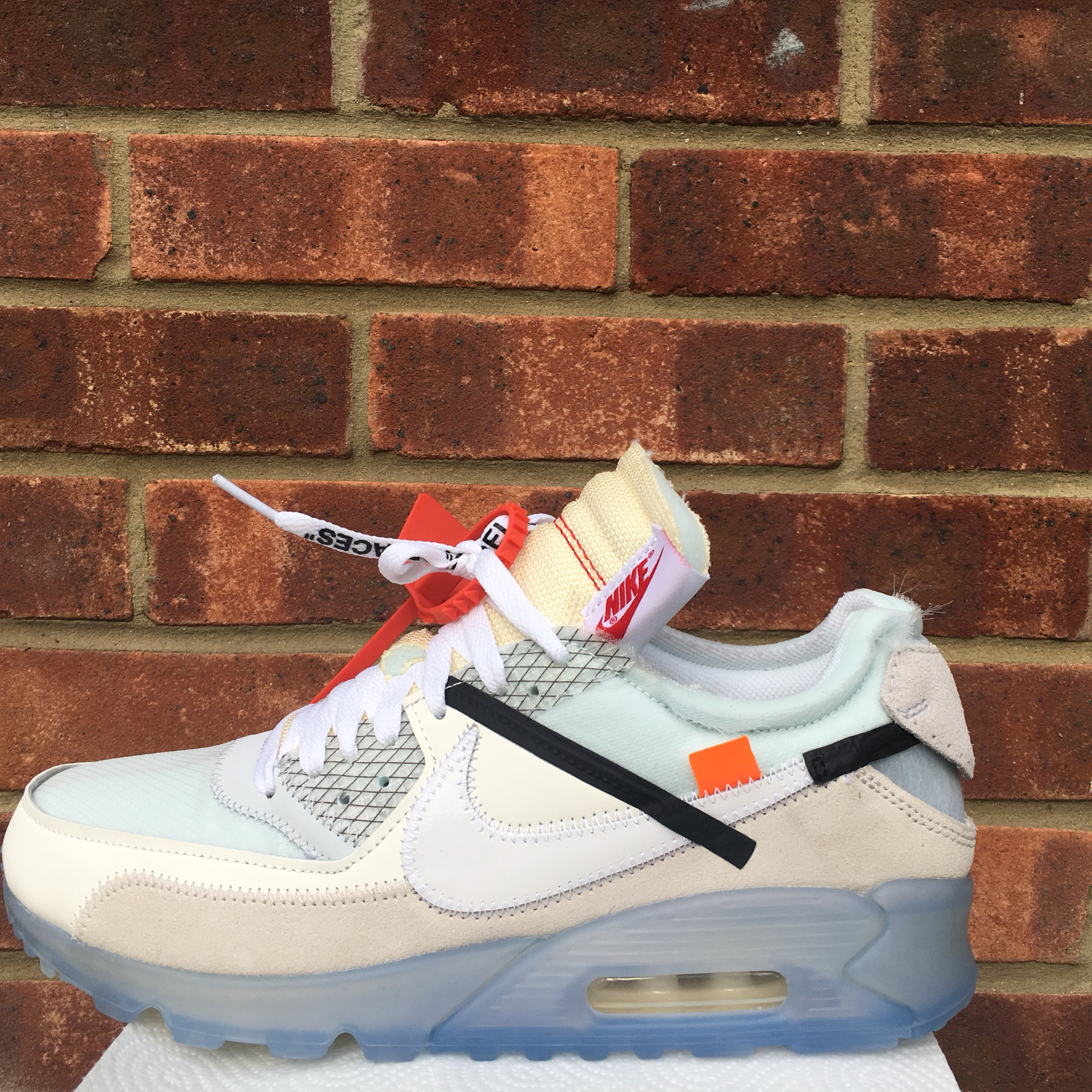 best sneakers fddb5 63a9b THE 10: NIKE AIR MAX 90 X OFF WHITE Won in the Foot... - Depop