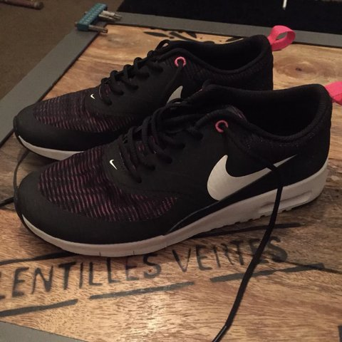 ee7a4967317e Ladies Nike black Air Max Thea trainers. Size UK 5 but come - Depop