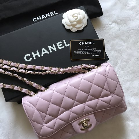df950f3685bf @loveluxe. 8 months ago. Edinburgh, United Kingdom. CHANEL MADEMOISELLE  CHIC FLAP BAG - Quilted lambskin in baby pink