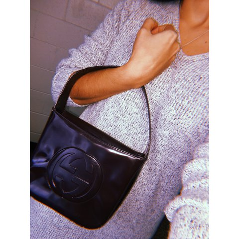 d78238d79d55 GUCCI Dark purple leather purse bag. This is an AUTHENTIC vintage GUCCI bag  in excellent conditions! I would use it but I have too many bags.