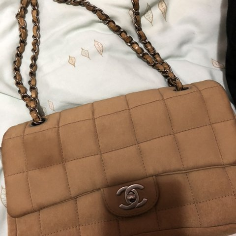 0a7580e850729f @mariesilma. 6 months ago. Peterborough, United Kingdom. Chanel nylon bag  is in good condition apart from slight water mark ...