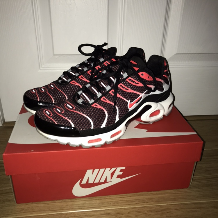 Nike Air Max Plus Tn Pink Red White Black Excellent Depop