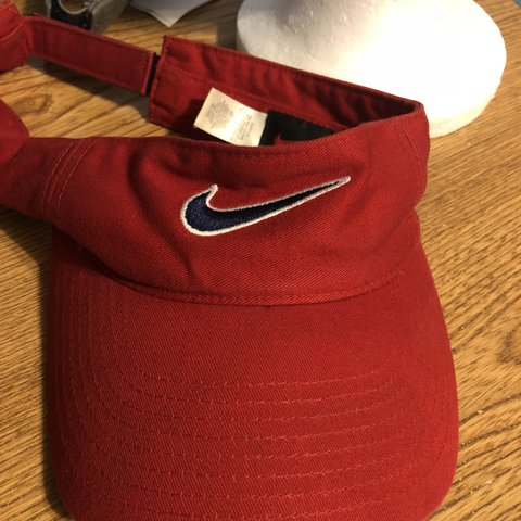 3ad18796 Nike Red Visor Brand: Nike Condition: Excellent Color: Red - Depop