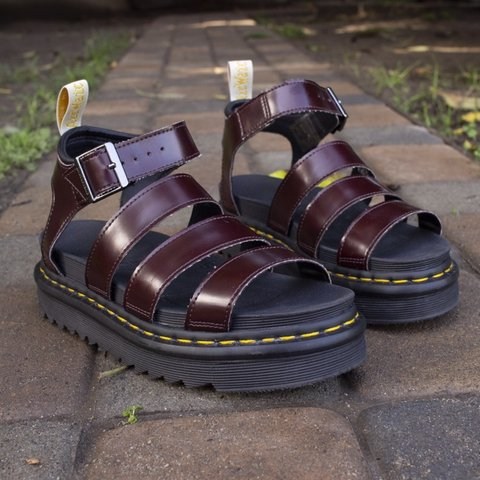 97078ef7fd28 Dr. Marten Blaire Sandals -Vegan -cherry red -US Woman size - Depop