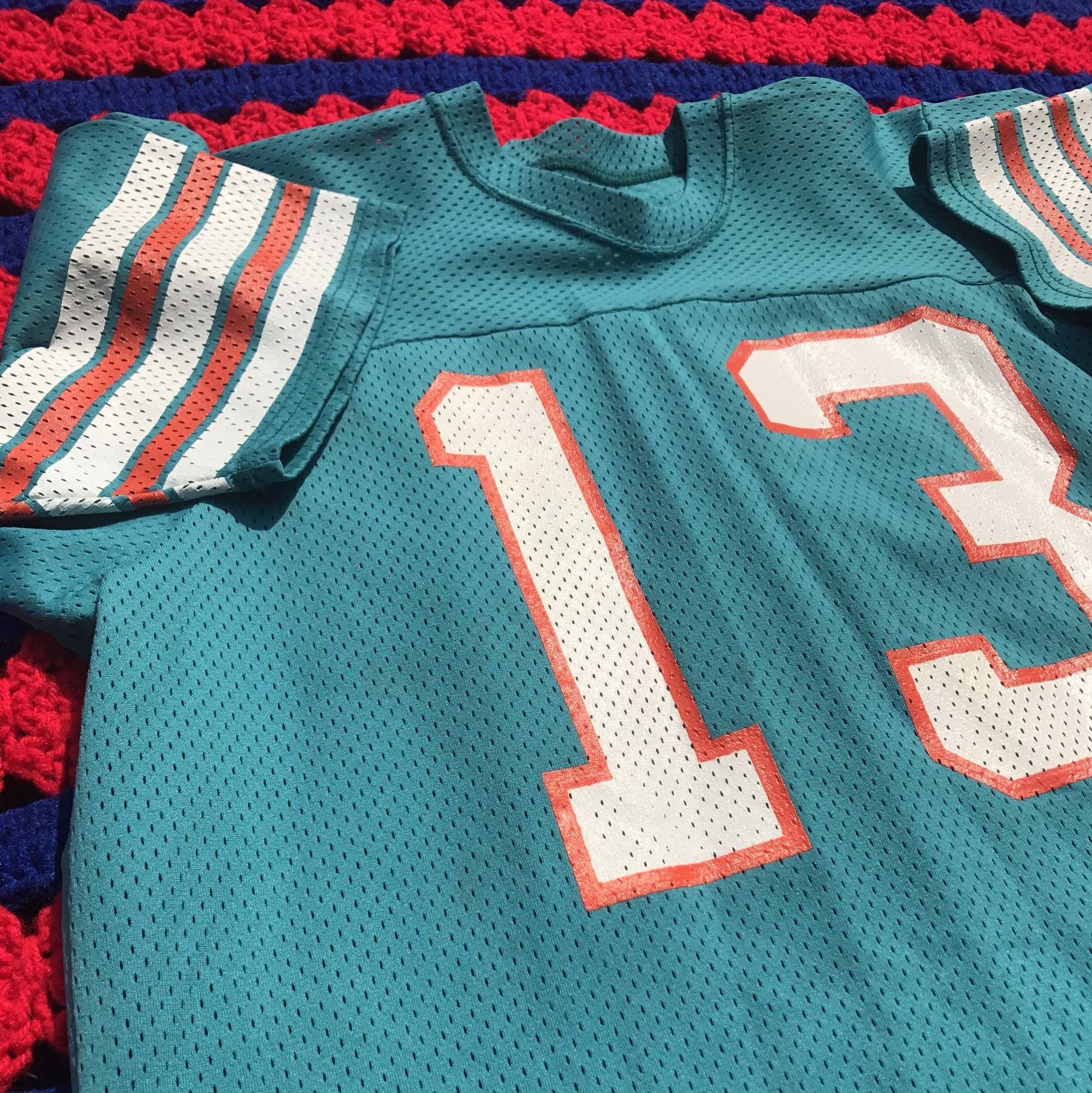 size 40 76a11 2fff3 Vintage 80s Dan Marino Miami Dolphins 13 jersey boot... - Depop