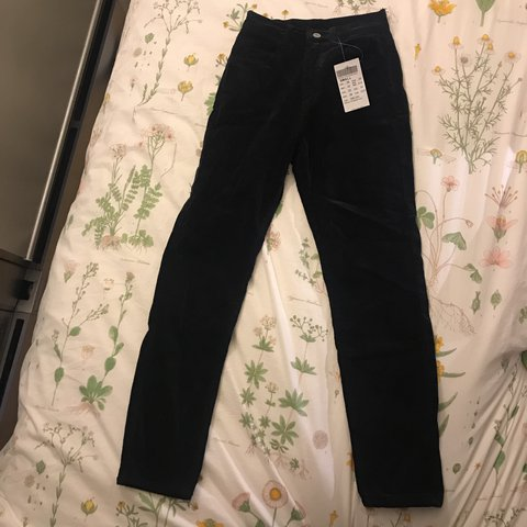 50a675fdc34557 @chlloeehunt. last year. Chicago, United States. Brandy Melville Jane Navy  Blue Corduroy Pants. Brand new ...
