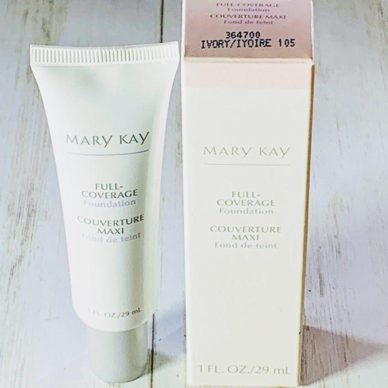 Mary Kay Full Coverage Foundation Ivory 105 For Depop