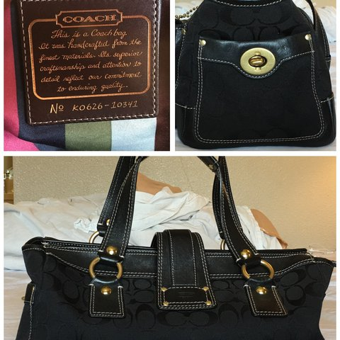 3ecfde9a5a02 This is super gorgeous black COACH BAG. It is handcrafted a - Depop