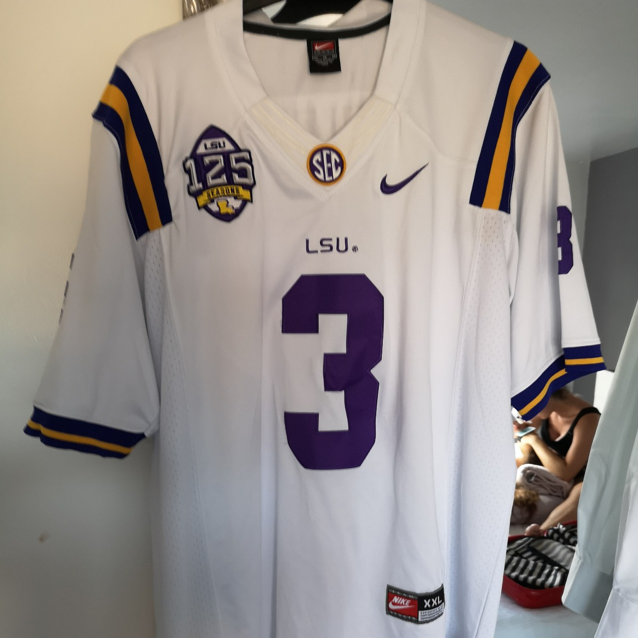 the latest 43af4 e140b Odell Beckham Junior LSU alternate jersey Fully... - Depop