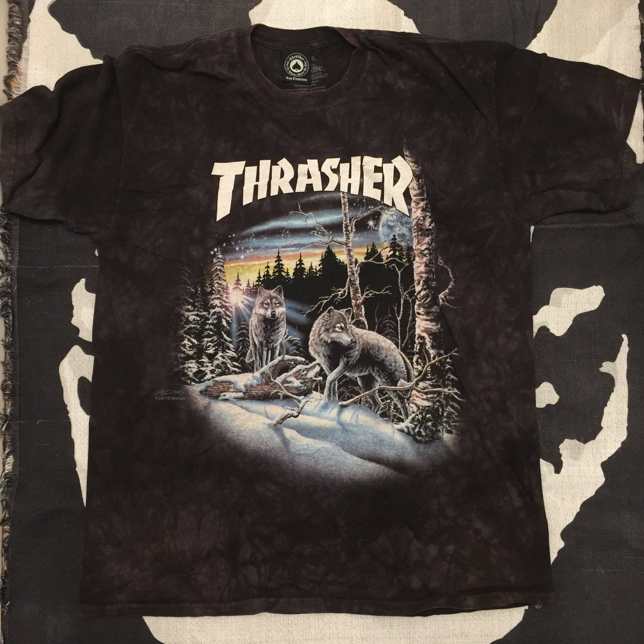 e360a564bda8 Item - Thrasher T Shirt Used Size - XL Color - Black Tie - Depop