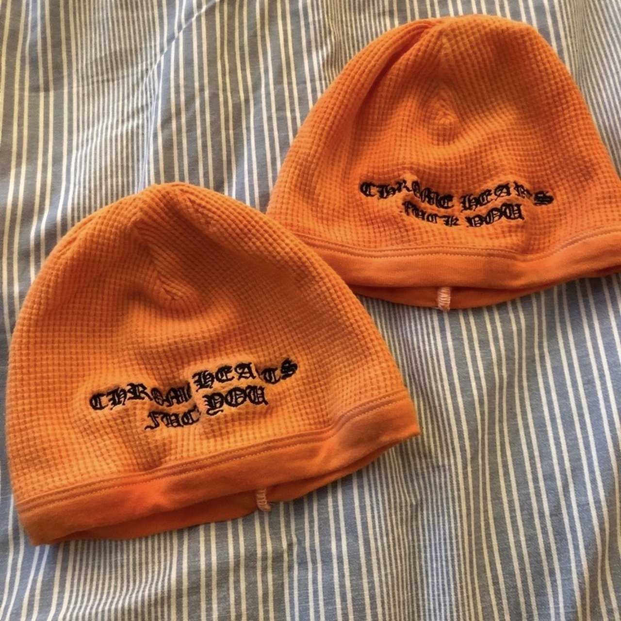 9d429ba6e Fuck you thermal beanie dyed orange 100% authentic... - Depop
