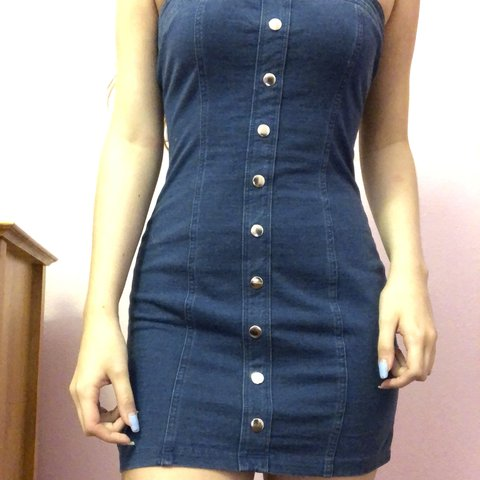 77c58b8a @reerose02. 9 months ago. Fruitland Park, United States. ~ Adorable Forever  21 jean button down dress ...