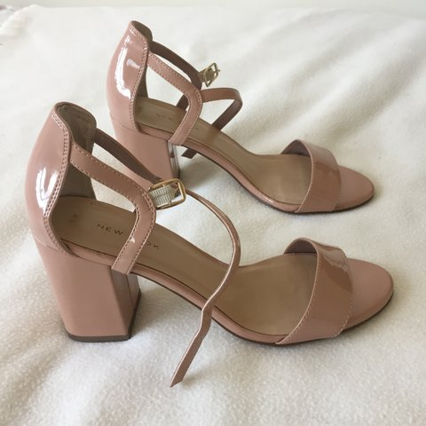 6b3df9646b Uk women's size 6. New Look. Nude/pink strappy sandals with - Depop