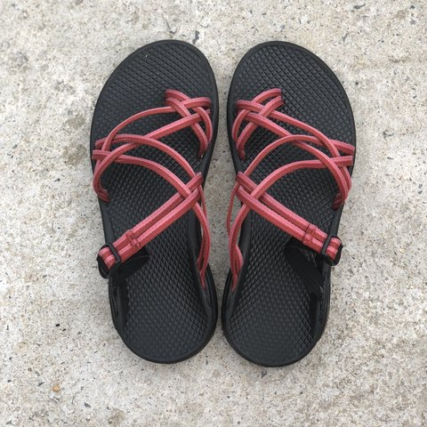 fe71bfacc4d3 Slip-on Chaco Sandals with Double Pink Straps -Basically a 7 - Depop
