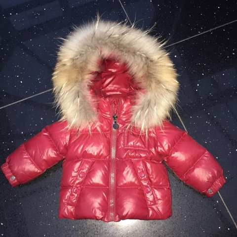 9f19f8d47 Moncler Baby Fur hooded coat .. Perfect condition 6-9 months - Depop