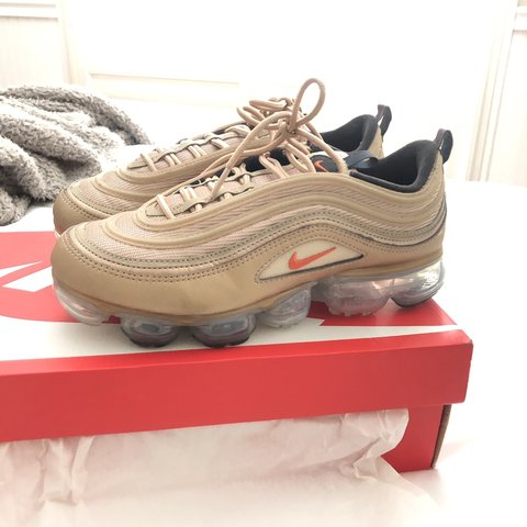 reputable site e2b61 51705 Gold Air vapormax 97. Purchased from stockx. Worn... - Depop