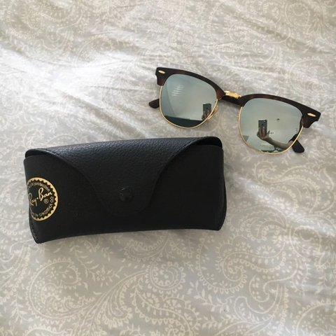 7b0bcf71b5 Ray-Ban Clubmaster Sunglasses. Authentic Ray Ban clubmasters - Depop