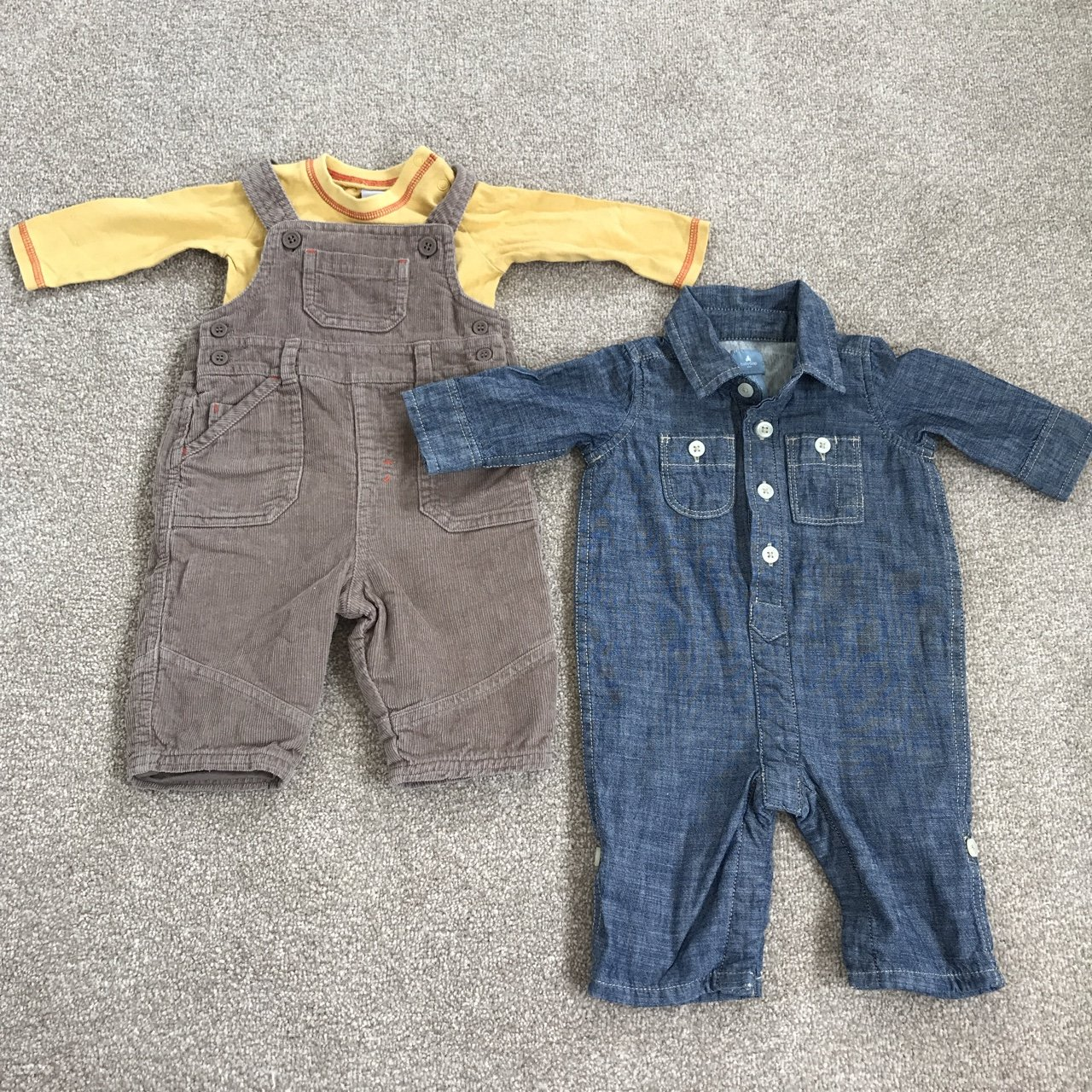 Outfits & Sets 0-3 Month Dungaree Outfit