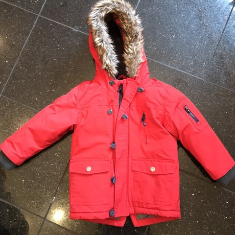 f7c6ec60d Red boys next coat age 2-3 years Good condition Hardly and - Depop