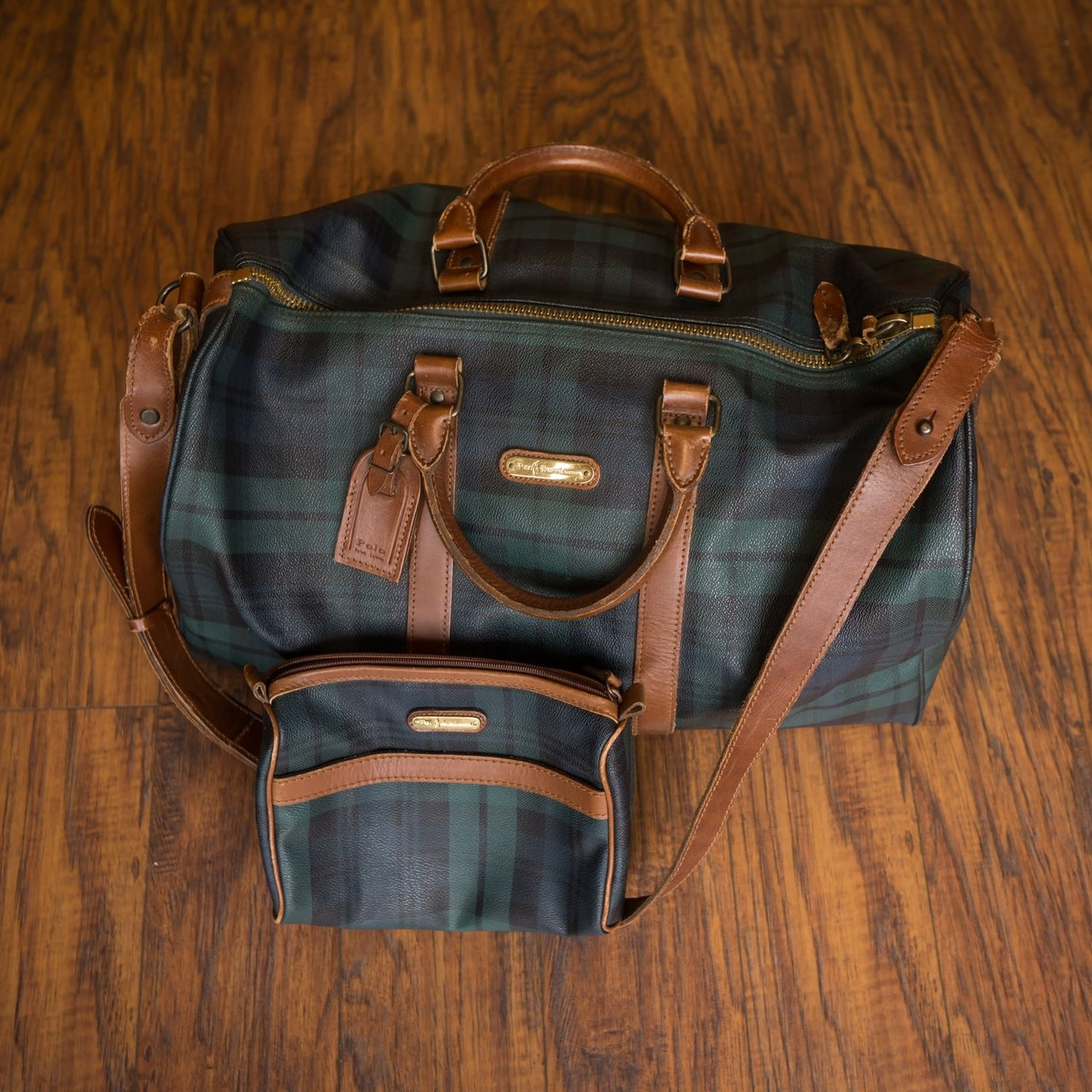 0ce3d18b1f4f Rare Vintage Polo Ralph Lauren Duffel with Matching Toiletry - Depop