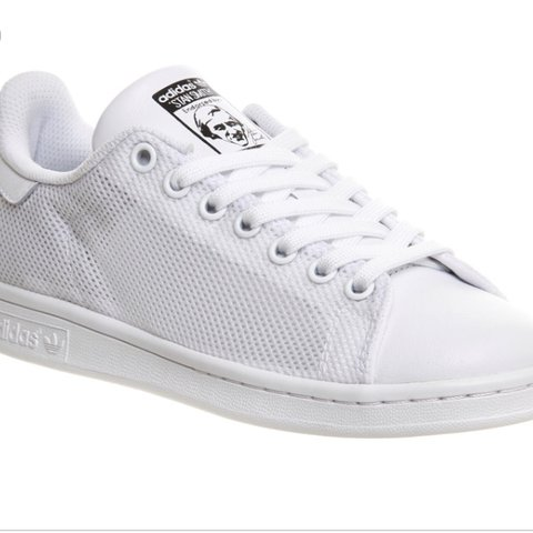 0eb43b828d2 Adidas Stan smith white mono mesh unisex sports trainers UK - Depop