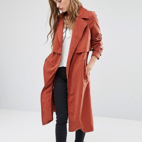 c6a32e2d @lgibbs26. 2 years ago. Bristol, United Kingdom. Mango red soft trench coat  ...