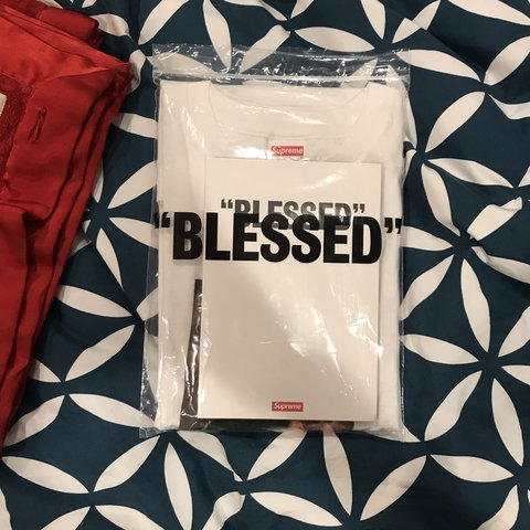"""91b22424d306 Supreme """"blessed"""" tee and bundle. Includes tee, photo book, - Depop"""