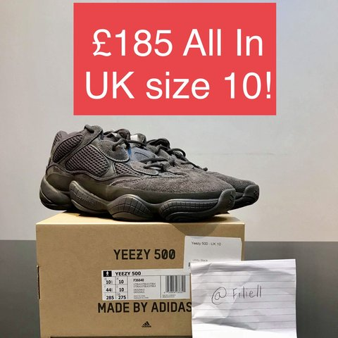 82fe8590f6fc3 Yeezy 500 utility black!!! SOLD OUT SIZE!🔥🔥🔥 Size UK 10 - Depop