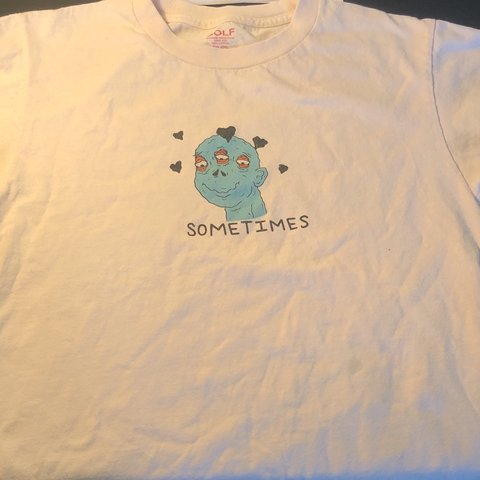 6d52ae8bb19588 GOLF WANG SOMETIMES TEE Size Small 100% Authentic Fits True - Depop