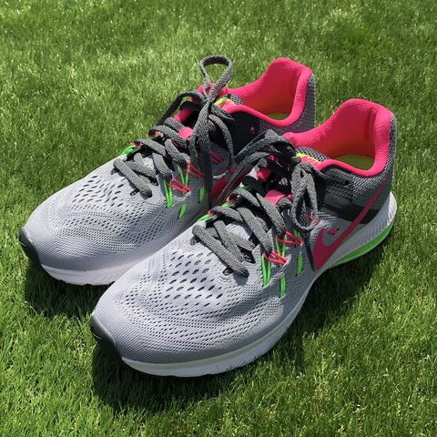 finest selection b8b1b 6f324  mauichains. 5 months ago. Bangor, United Kingdom. Nike zoom winflo 2  sneakers. Grey, pink and green