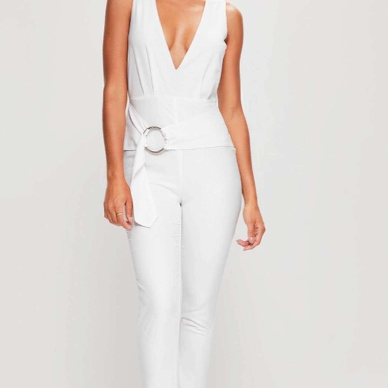 35cef8b5425 Missguided white jumpsuit New- 0
