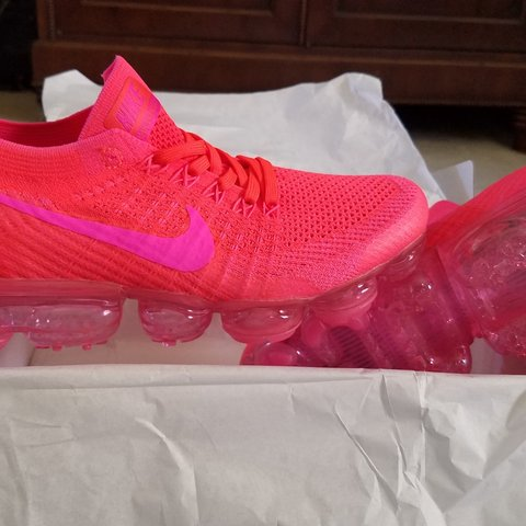 48d578ec8b0 Nike Flyknit Vapormax Hyper Punch Pink on pink These are I - Depop