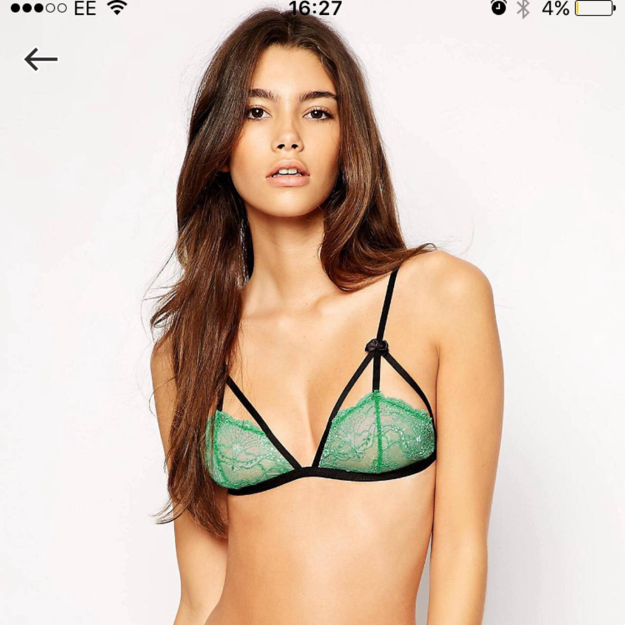 1ca29eee32 Asos green lace bra. Size small. Msg me for details.  asos - Depop