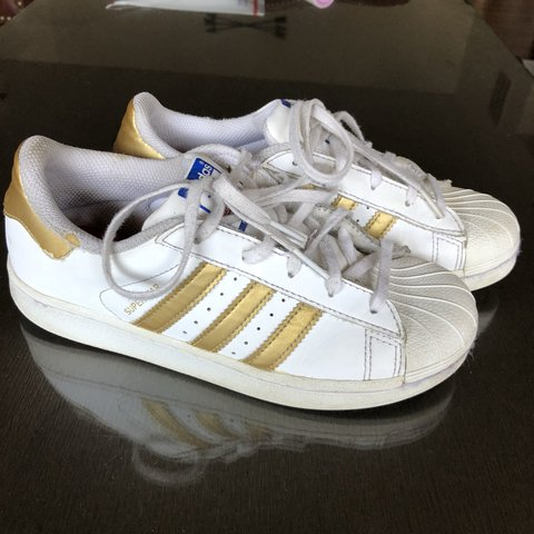 save off 2b807 d9af8 Adidas superstar shoes with gold- 0