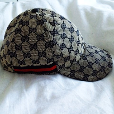 b3b2c7ea 100% authentic gucci cap! Serial number shown on leather. on - Depop