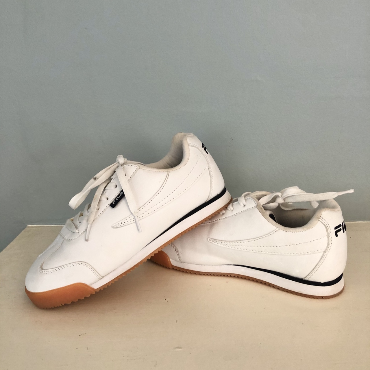 White Fila shoes! Worn only a couple