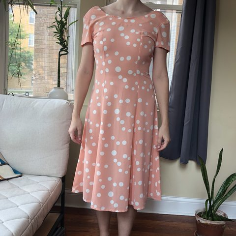 0add6da65aa 🌟 ON HOLD 🌟 The cutest vintage dress. Pink with white a - Depop