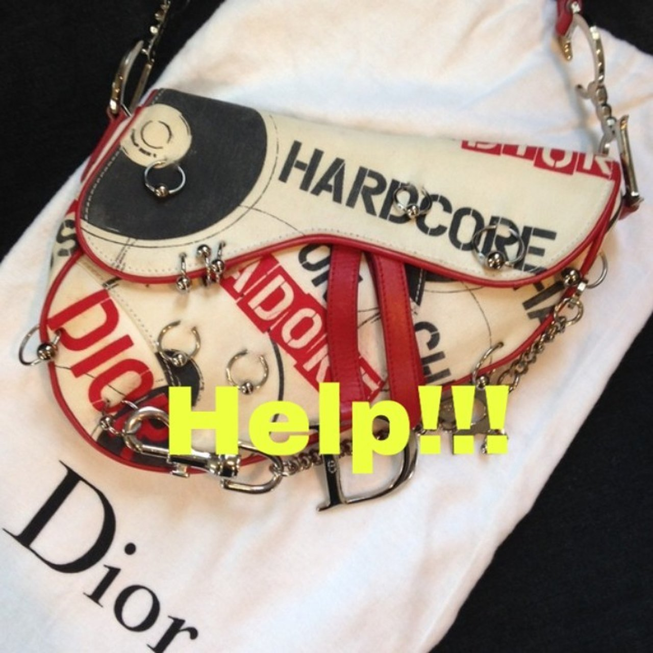 dcc5d5f0afb2 Desperately looking for Christian Dior Hardcore saddle bag
