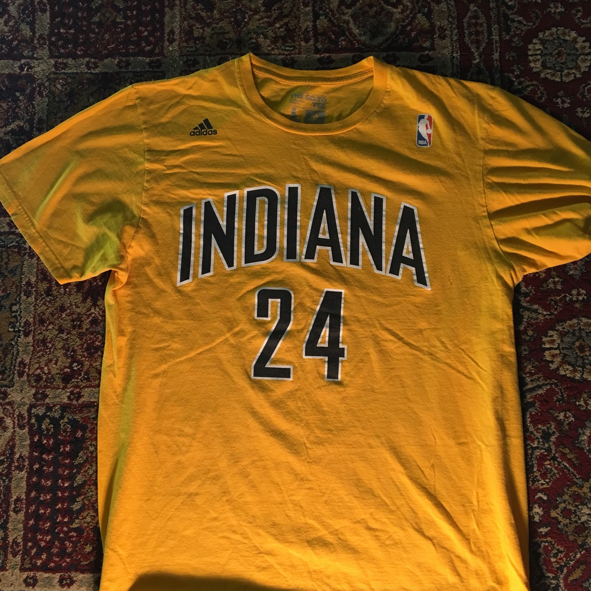 new concept 3bf5a cd879 Indiana Pacers Paul George t shirt jersey Adidas NBA... - Depop
