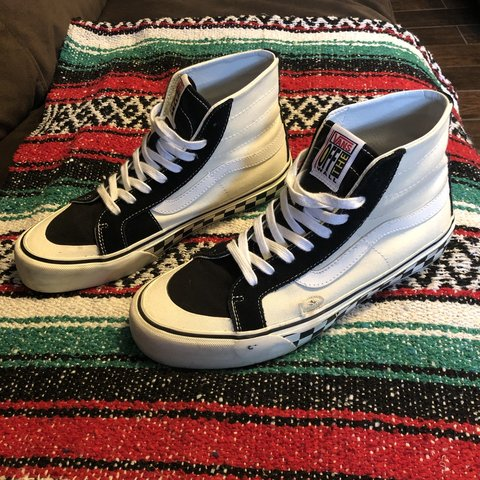 331066aa51 Some rare Vans Surf Sk8-Hi 138 Decon Shoes. Black and white - Depop