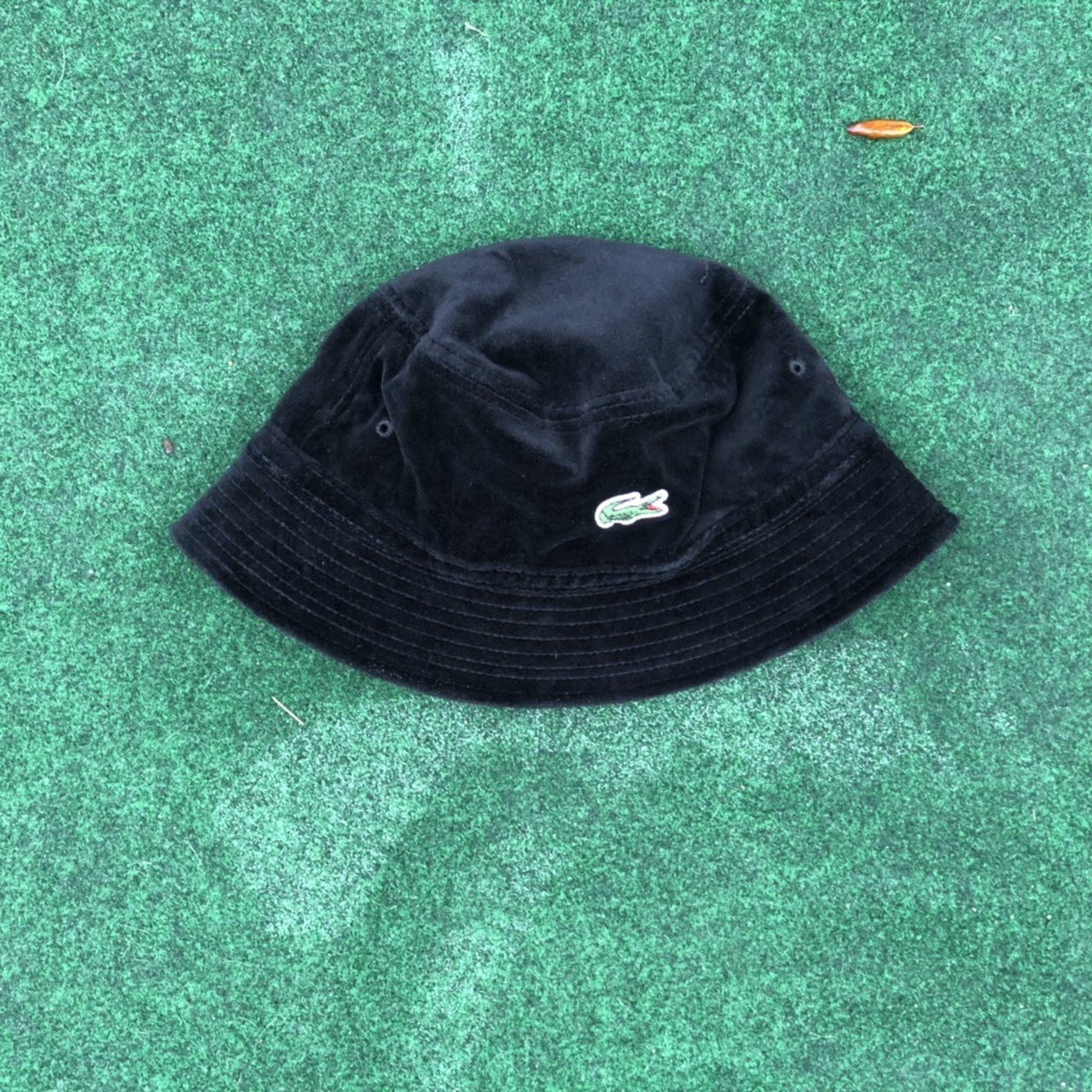 a85bd16954d SS  18 SUPREME x LACOSTE BUCKET HAT •Tagged size M •Black   - Depop