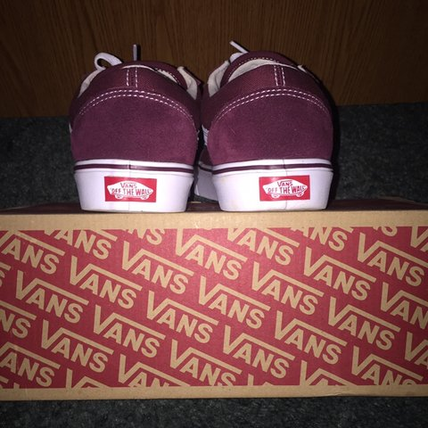 7e1a3fcf473ed5 Vans old skool lite maroon burgundy 🔥SAMPLE PAIR🔥 This is - Depop