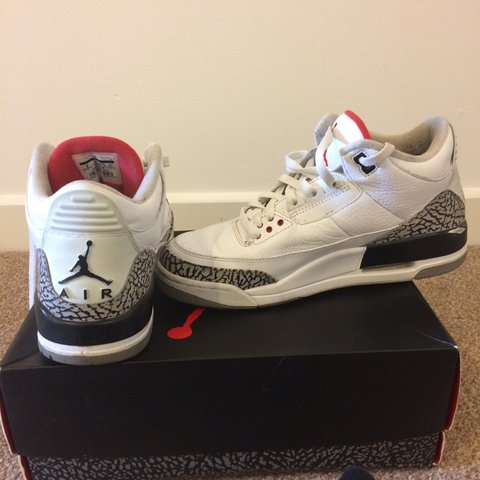 premium selection 54730 cac49  taylorthete04. 8 months ago. United Kingdom. Air Jordan retro 3 white and  red cement grey black