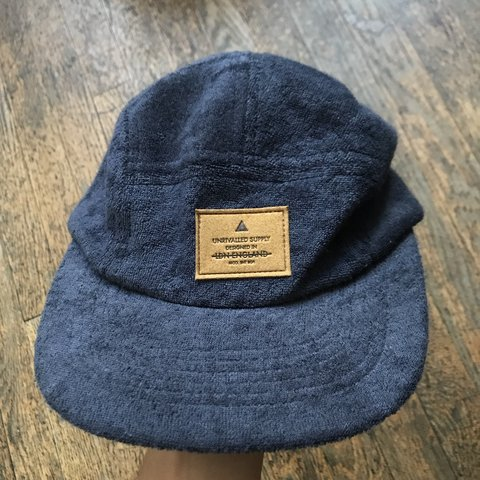 df6c894250bcc ASOS blue towelling and gray fleece 5 panel hats. Both are - Depop