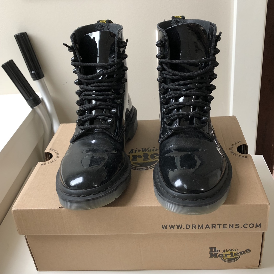 Dr Martens Pascal Stud boots in Black